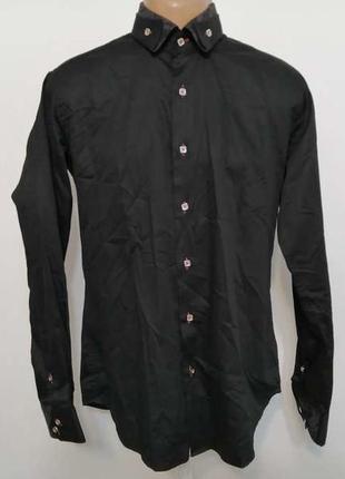 Рубашка нарядная, приталеная franck michel, m, как новая!