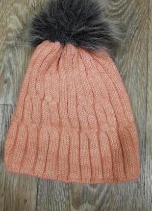 Теплая шапка для девочки