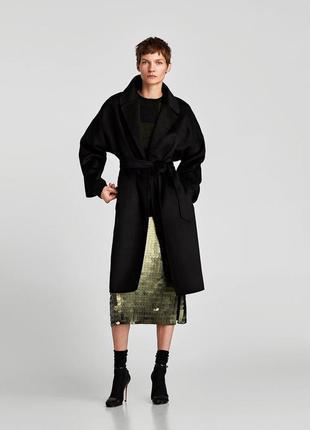 Пальто на запах zara