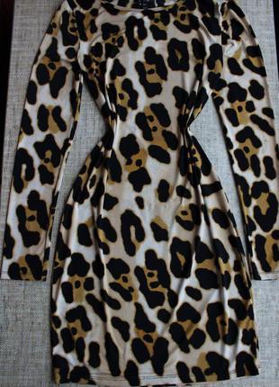 Платье, на осень, плаття, сукня, леопардовое, нарядное