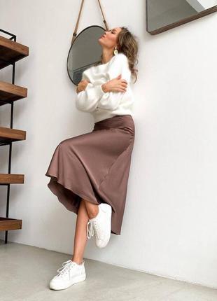 Шёлковая юбка миди
