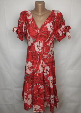 Платье красивенное шелковое на подкладке laura ashley uk 14/42/l