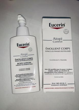 Eucerin atopicontrol body lotion 400 мл с дозатором в коробке
