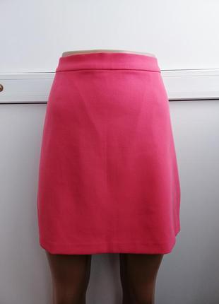 Юбка мини короткая розовая