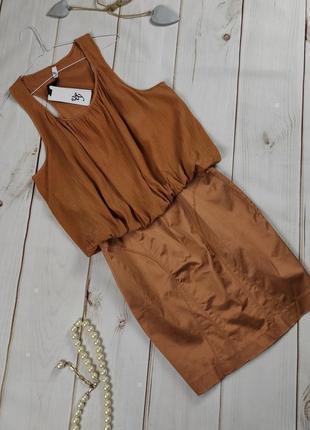 Платье шелковое изящное новое vero moda uk 14/42/l