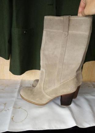Шикарные, удобные фирменные сапоги из натуральной замши timberland earthkeepers waterproof стелька 26 см