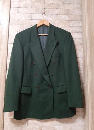 Двубортный пиджак из кашемира