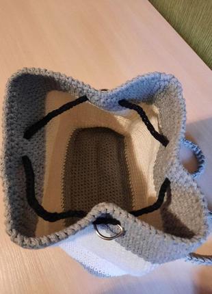 Вязаная сумка ручной работы