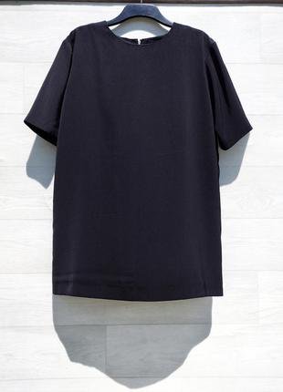 Простое прямое чёрное короткое платье asos