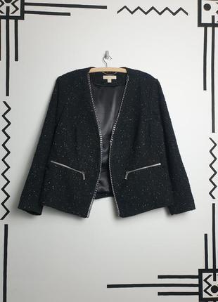 Michael kors твидовый пиджак