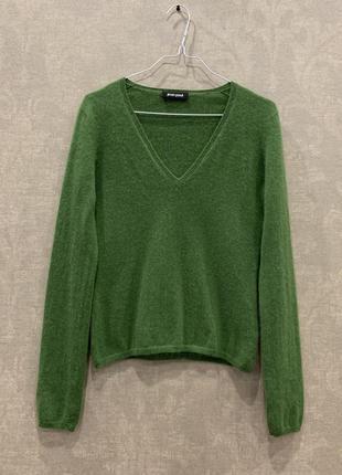 Кашемировый свитер пуловер jean paul 100% кашеми