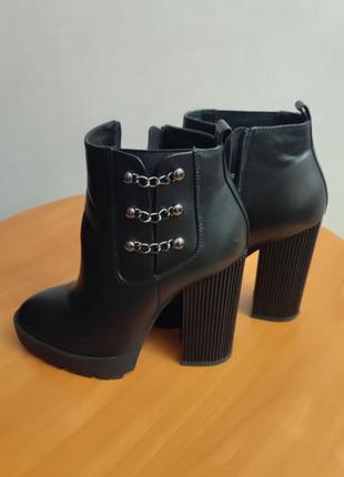 Ботинки женские на каблуке atizzare, miraton, экокожа
