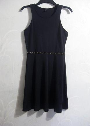 Простое но элегантное трикотажное чёрное платье h&m