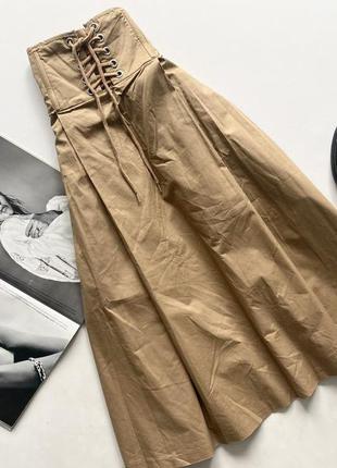 Шикарная юбка котоновая карсетная талия 12 л