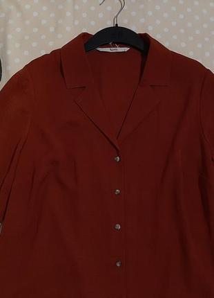 Стильная  терракотовая    блуза