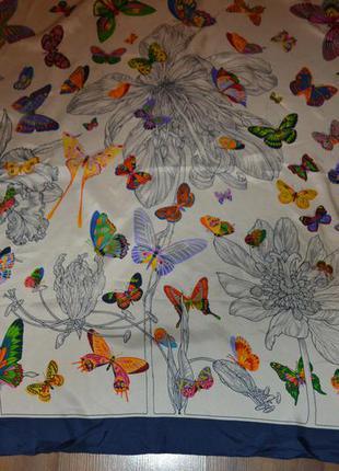 Шелковый платок ,бабочки