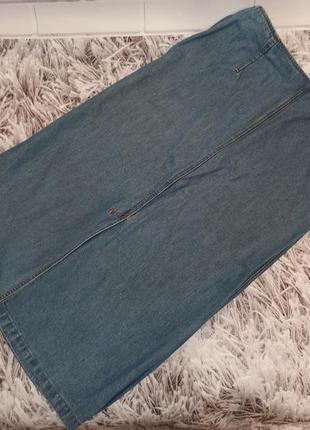 Женская юбка marks&spencer blue, женская юбка джинсовая голубая