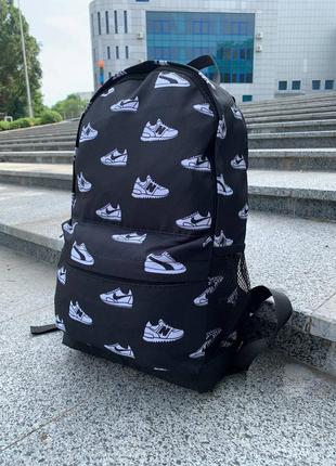 Стильный черный рюкзак / портфель мужской / женский