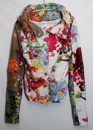 Anja gockel london, жакет пиджак кардиган блуза шелк