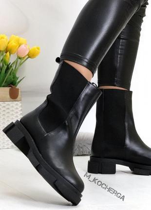 36-41 деми/зима высокие ботинки на платформе натуральная замша/кожа