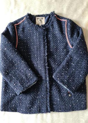 Жакет пиджак куртка бомбер из твида garcia jeans