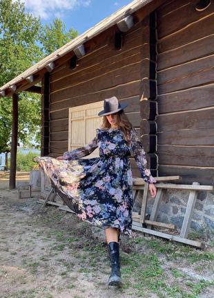 Осенее платье из шифона