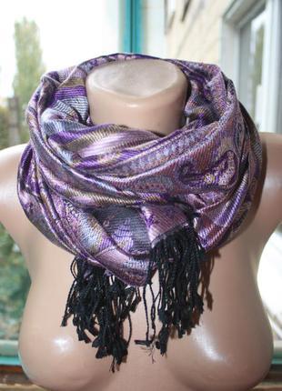 Шикарный натуральный шарф палантин пашмина
