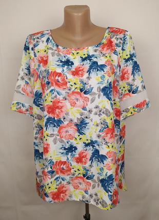 Блуза цветочная легкая tu uk 16/44/xl