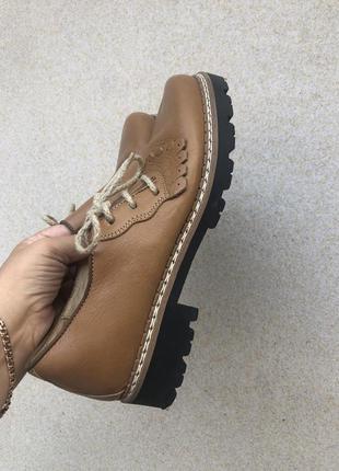 Стильные грубые кожаные туфли!