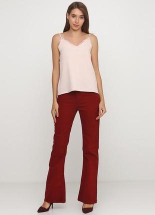 Высокая посадка джинсы клеш pimkie