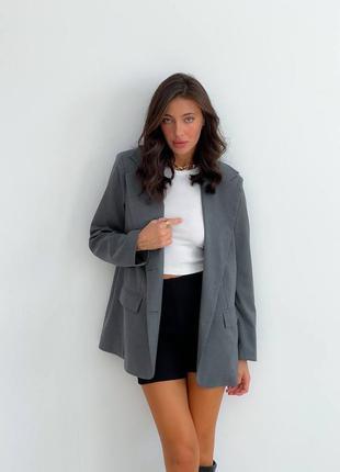 Стильный пиджак жакет оверсайз шерсть
