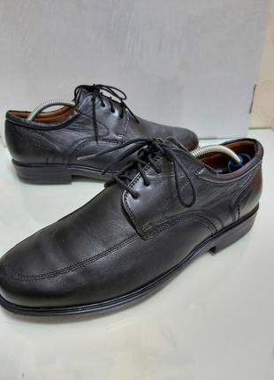 Кожаные туфли премиум бренда sioux р. 44-45/оригинал/германия