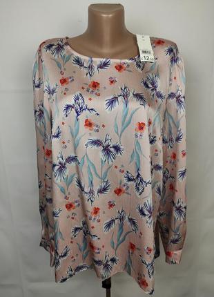 Блуза новая легкая в принт george uk 16/44/xl
