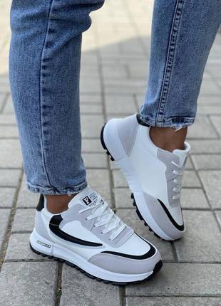 Теплые кроссовки на меху 🌿 холодная осень кросівки кеди осенние