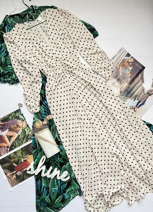 Платье длины миди в горошек h&m новая коллекция
