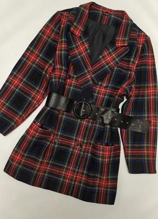 Шерстяной теплый пиджак винтаж