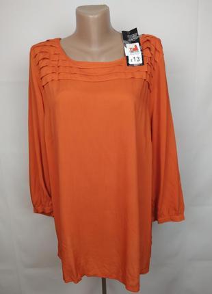 Блуза новая стильная натуральная штапель george uk 18/46/xxl