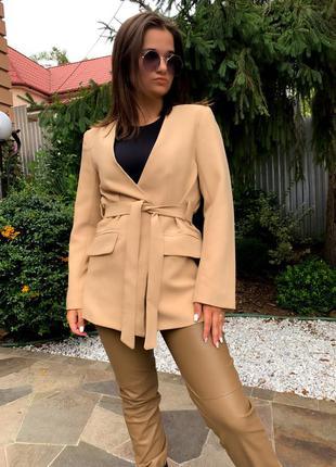 Жакет пиджак бежевый кемел