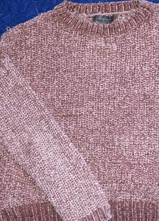 Пудровый свитер велюр