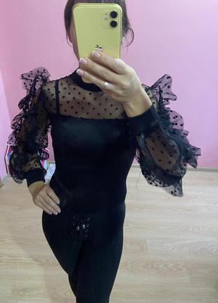 Боди, блузка с люрексом