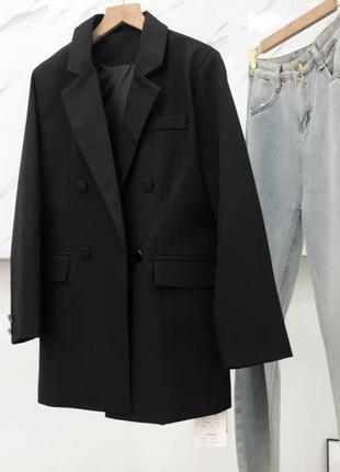 Чёрный пиджак жакет