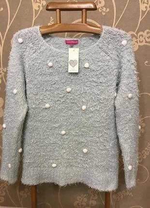 Очень красивый и стильный брендовый вязаный свитер 20.