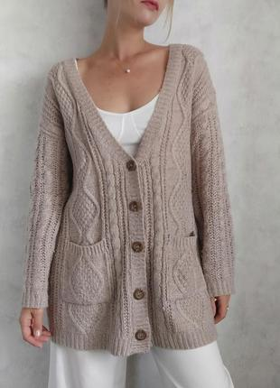 Базовый оверсайз кардиган пиджак блейзер свитер