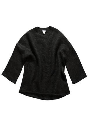 Очень теплый шерстяной мохеровый свитер h&m в стиле cos