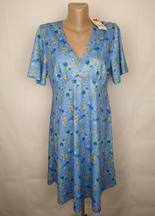 Платье новое красивое в принт peacocks uk 12/40/m