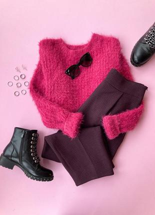 Светр в травку фуксія рожевий, розовый свитер в травку фуксия primark xs s