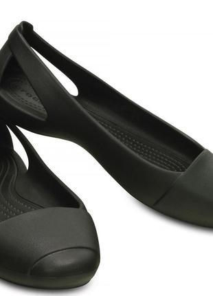 Crocs модель sienna черные классические балетки лоаферы лоферы оригинал