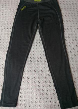 Термоштани bergans з мериносової шерсті термо легінси штаны леггинсы шерстяные термобелье шерсть мериноса