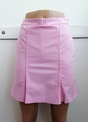 Юбка-шорты розовая короткая