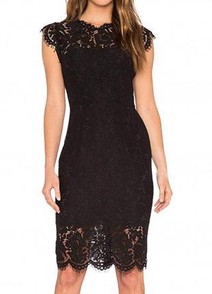 Чёрное кружевное миди облегающее платье по фигуре футляр кружево